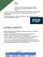 ESI ACT (Sickness benefit)