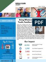 Boys & Girls Club of Benton County -- May 2020 Newsletter