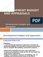 CHAPTER 6 - Development budget and appraisals