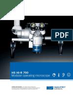 HS Hi-R 700 brochure