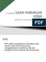 Pemutusan Hubungan Kerja by Shinta Ayu Purnamawati