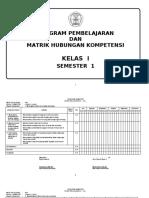 PROGRAM SEMESTER KELAS I SEMESTER 1