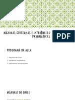 20180518 - Pragmática - Aula 02 - Máximas e Inferências