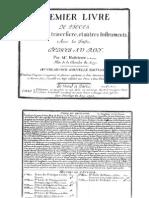 Pièces pour la flûte traversiere, livre I, Op.5 (Hotteterre, Jacques)