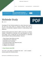 Hofstede Study – theintactone.com