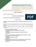 Act de Matemática y Naturales Para La 2 Semana de Mayo