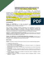 5 MODELO DE CONVENIO DE PRACTICA