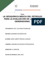 GEOQUÍMICA BÁSICA DEL PETRÓLEO