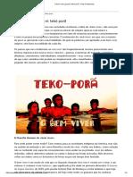 O bem viver guarani_ tekó porã - Raiz Cidadanista