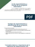 Gestión de requerimientos y planificación de un proyecto