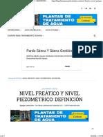 ▷ NIVEL FREÁTICO Y NIVEL PIEZOMÉTRICO_ DEFINICIÓN ⋆ TÉRMINOS Y DEFINICIONES