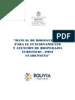 MANUAL DE BIOSEGURIDA - HOSPEDAJES TURISTICOS Min.Salud