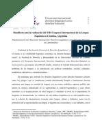 2019 Contracongreso de la Lengua Manifiesto