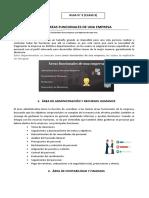 3B MOD 3 CLASS 3 TEMA  AREAS FUNCIONALES DE LA EMPRESA