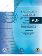 Fusion Center Guidelines