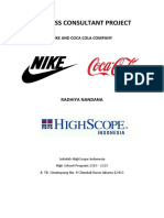 Nike and Coca Cola - Business Consultant Project (PDF)