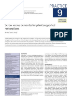 9 Screw Versus Cemented Implant Supported