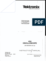 Tektronix 434 Oscilloscope Service Manual
