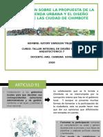 COMPARACION AGENDA Y DISEÑO ACTUAL DE CHIMBOTE