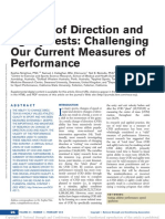 Change of direction and agility tests - challenging our current measures of performance