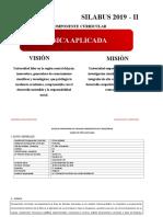 SILABO FÍSICA APLICADA 2019-II