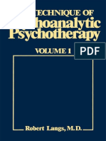 Robert J. Langs - The Technique of Psychoanalytic Psychotherapy, Vol. 1_ Initial Contact, Theoretical Framework, Understanding the Patient's Communications, The Therapist's Interventions-Jason Aronson.pdf
