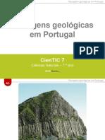 CienTic7- A5 Paisagens geológicas em Portugal