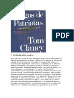 Tom Clancy - Juegos de Patriotas