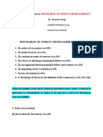DISCHARGE OF SURETY FROM LIABILITY