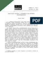 REGULAÇAO CENTRAL E PERIFERICA DE SINTOMAS PSSICOSSOMATICOS