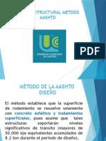 metodo de la AASHTO ara diseño de la seccion estructural de los pavimentos