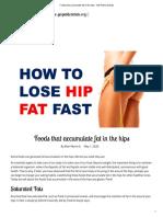 Foods that accumulate fat in the hips - GM Public Debate