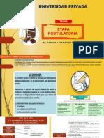 Etapa Postulatoria Proceso Civil