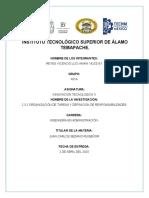 2.3.2 ORGANIZACION DE TAREAS Y DEFINICION DE RESPONSABILIDADES