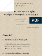 Movimento II - Articulaçes Escapulo-Humeral e Cotovelo