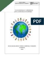 PROYECTO DE DEMOCRACIA Y CONIVENCIA 22 DE ENERO DE 2020