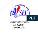 9-  Introduccon A La Teología Bíblica 1 -FOLLETO-