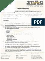 Academies Agreement Table Tennis
