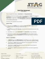 Club Agreement - Gold