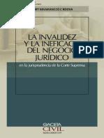 Invalidez e ineficacia de acto jurídico en la jurisprudencia