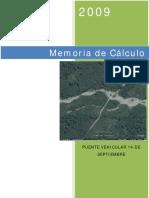 MEMORIA DE CALCULO PUENTE  14 DE SEPTIEMBRE