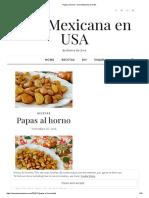 Papas al horno – Una Mexicana en USA