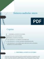 Initierea Auditului Intern Power Point