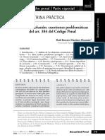 DELITO DE COLUSION - Cuestiones problemáticas del art. 384 del Código Penal