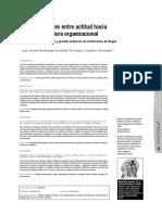 Cambio y cultura organizacional