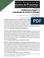 Artigo LIMA SILVA Renata - Performance negra e a dramaturgia do corpo no batuque