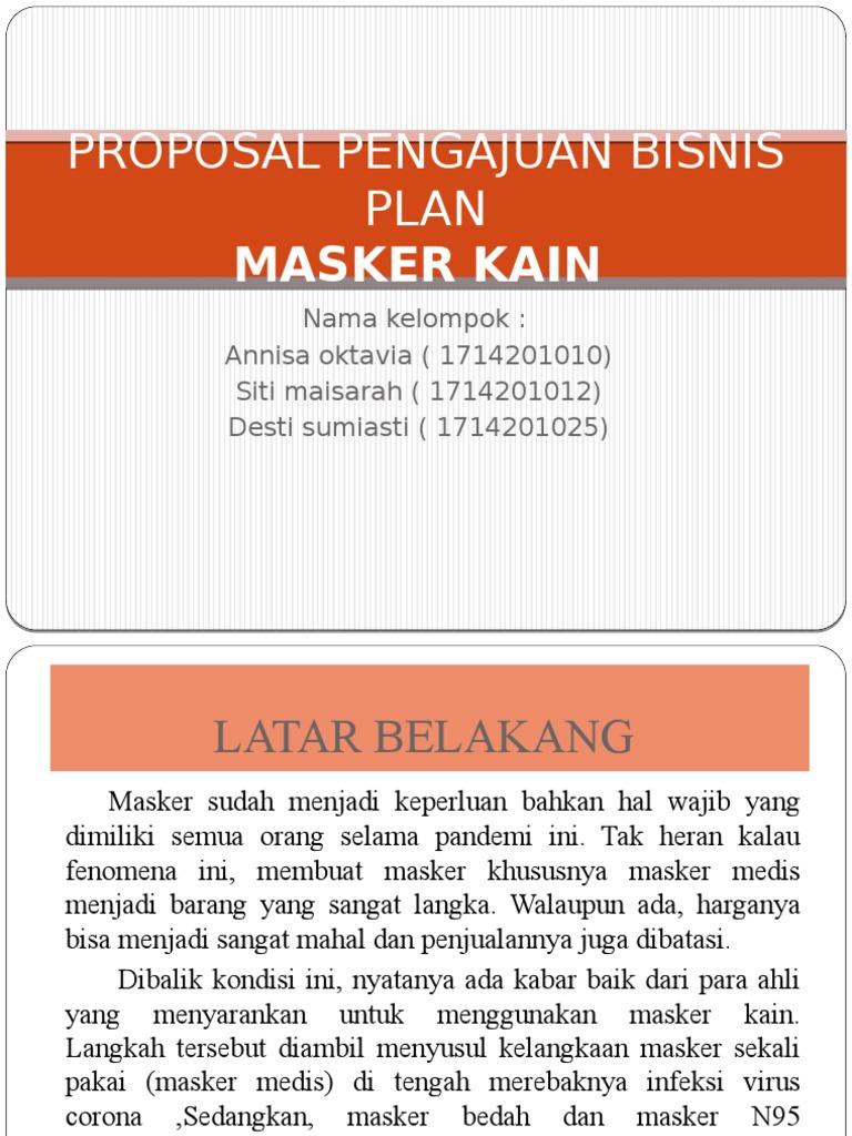 Proposal Pembuatan Masker Kain Sketsa