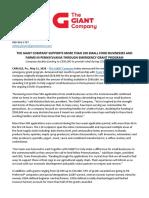 GIANT Company_Press Release - Grant Recipients 5.11.20