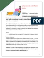 Tema 2-La importancia de la planificación  didáctica 27mayo2019 2