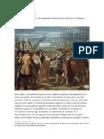 Análisis de la pintura sobre la guerra de Breda